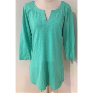 Boden Women's Green Cotton Knit Tunic Dress